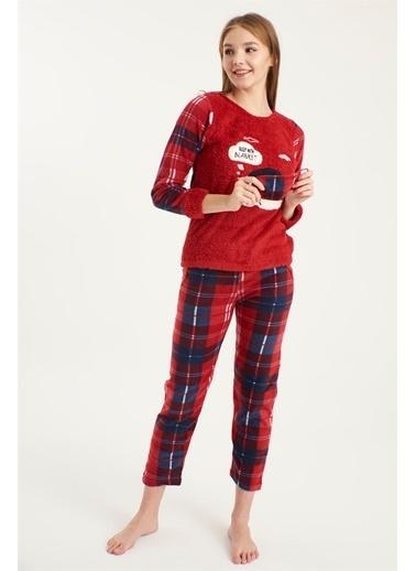 Z Giyim Yumoş Pijama Takımı [3875] Kırmızı